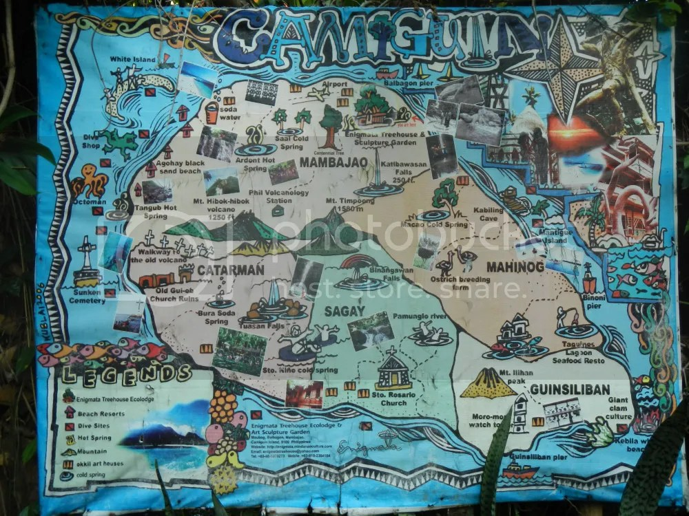 Map of Camiguin