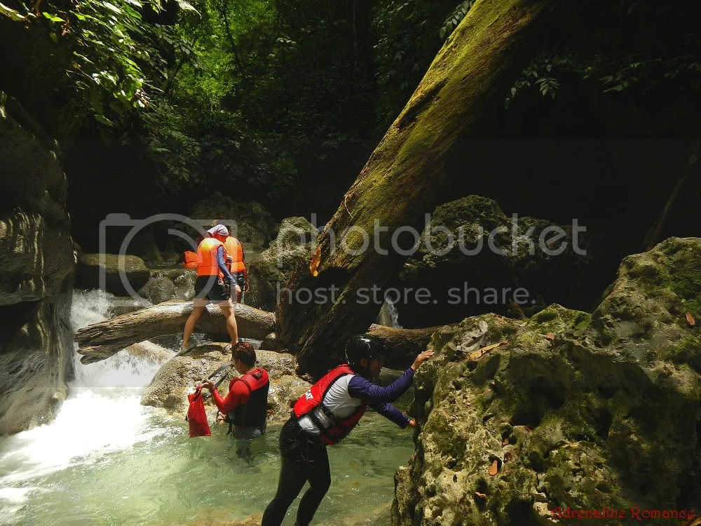 Canyoneering at Badian