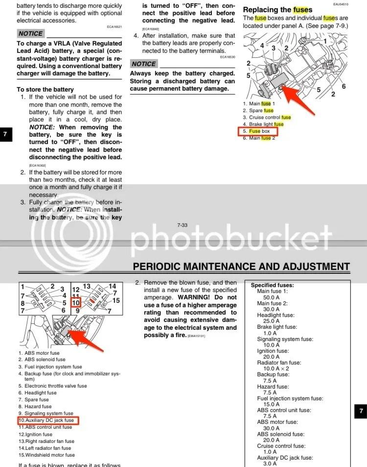 YAMAHA FJR 1300 FUSE BOX - Auto Electrical Wiring Diagram