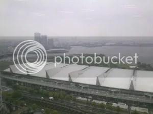 Ein Blick über den Hafen von Yokohama.