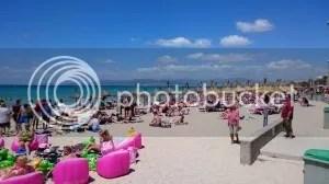 Ausblick auf den Strand am Ballermann 6 auf Mallorca