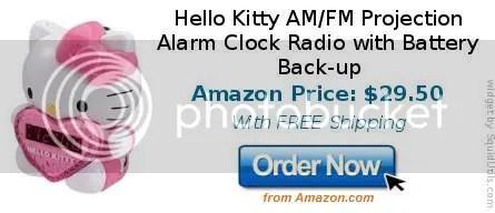 hello kitty projection alarm clock