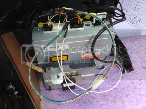 small resolution of reinstall satnav subassembly taking care to ensure cables are not trapped between cases brackets and chassis secure the co ax removed earlier to allow