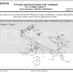 Nissan X Trail Towbar Wiring Diagram 3 Prong Twist Lock Plug Genuine T31 New Kit Harness Chrome