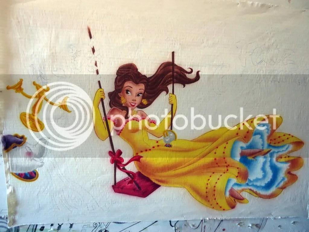 Aerografia sobre tela Paso a paso princesa Disney Bella