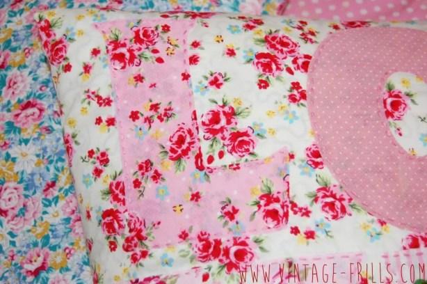 Sew and Stitch Magazine | Love Cushion | Vintage Frills