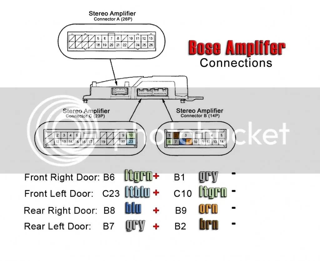 acura tl speaker wiring diagram honda stream ecu bose amp