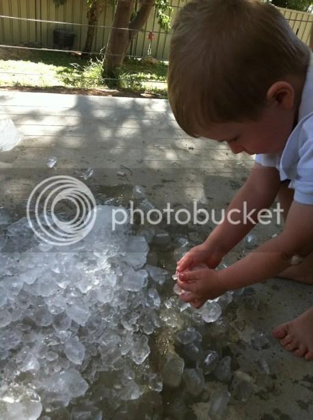 Fine motor skill development through ice play