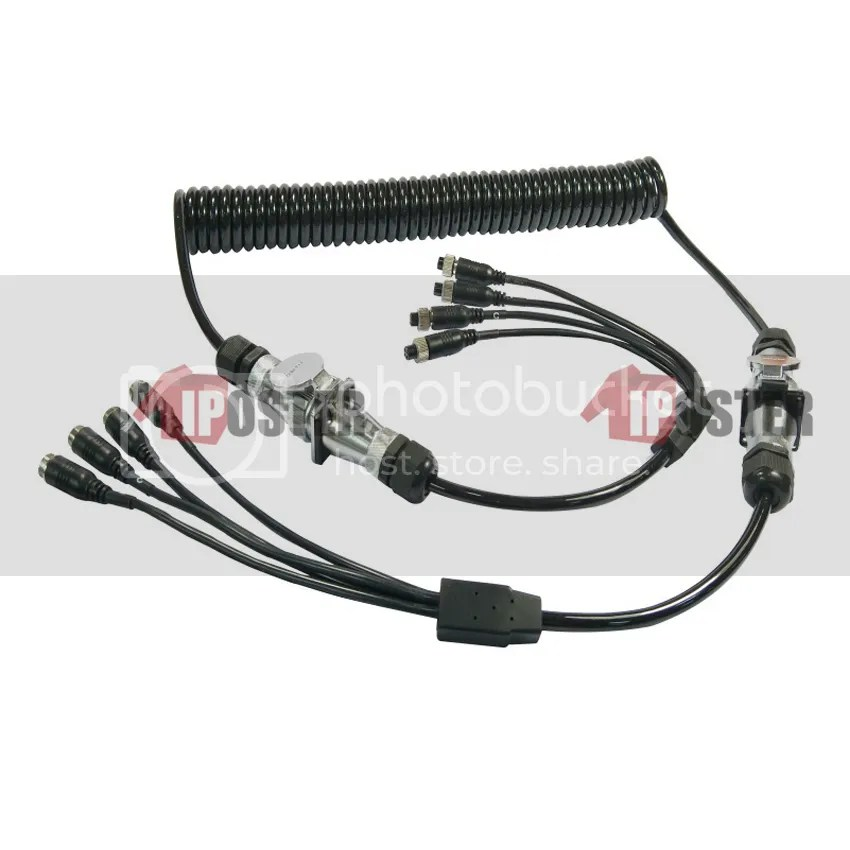 4-Channel 4 Meter Suzy Coil Trailer Cable 4PIN Connectors
