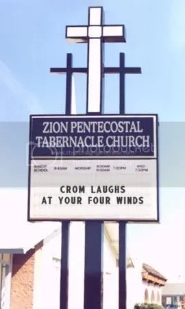 Church Sign Crom