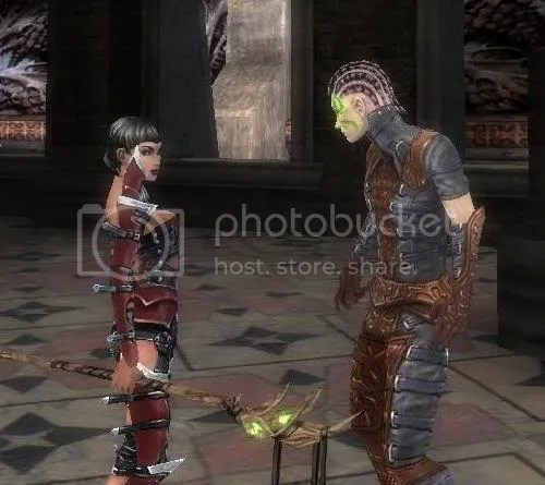 Necromancer Munne speaks with Belzan