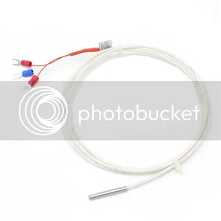 PT100 Temperature Sensors ø4x30mm Probe Three-wire