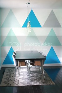 How To Paint A Triangle Statement Wall