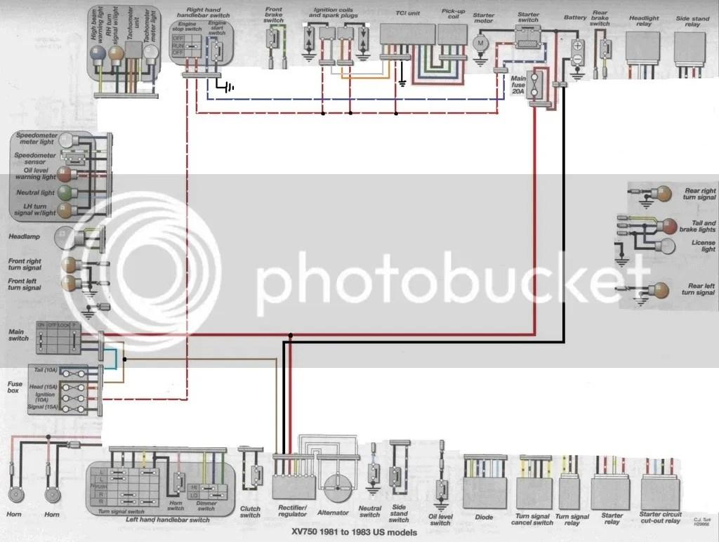 81 virago wiring diagram mercruiser 3 0 another xv750 cafe build how original right