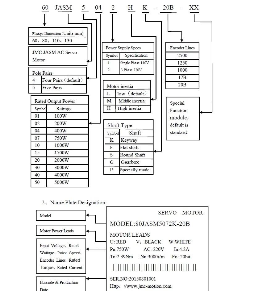 400w 3000rpm 1.27NM 60mm 220V AC servo motor drive kit