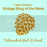 Dagmar's Home Featured as the Vintage Blog of the Week on Adirondack Girl @ Heart
