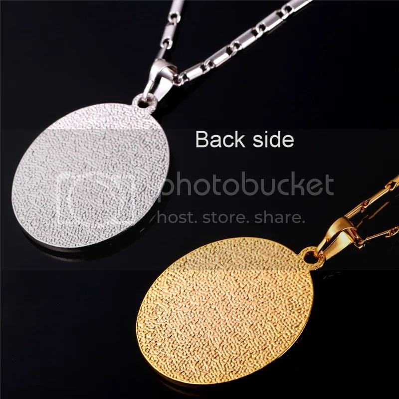 Oval Shaped Allah Pendants 18K Gold Platinum Plated Necklaces Islamic Jewelry  eBay