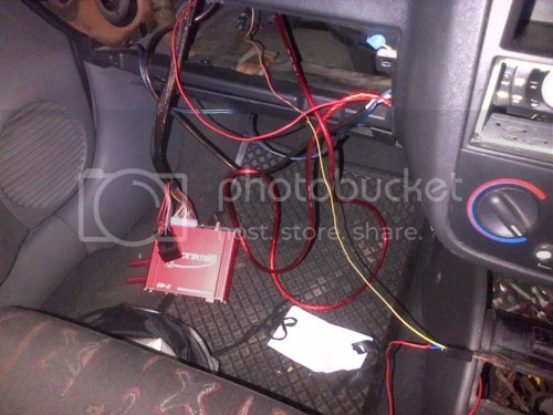 small resolution of once the car started i secured all the wiring connections and placed sleeving on to finish