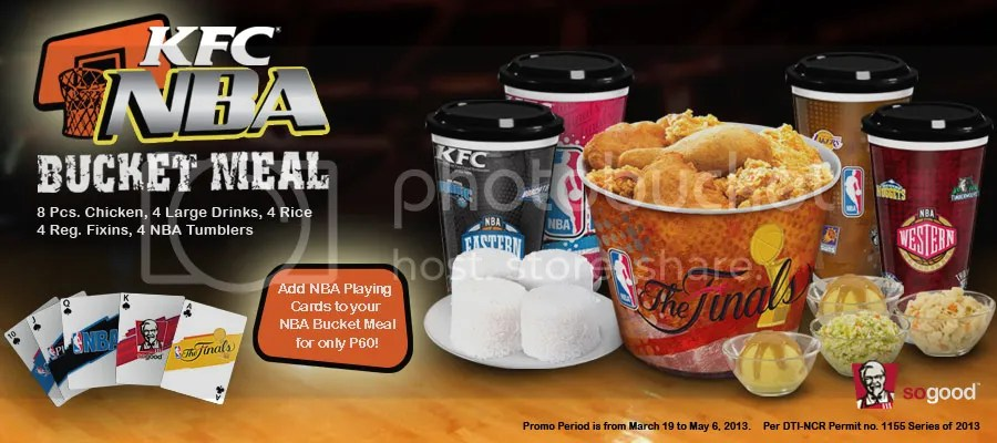KFC -NBA bucket meal promo with playing cardsKfc Bucket Meal