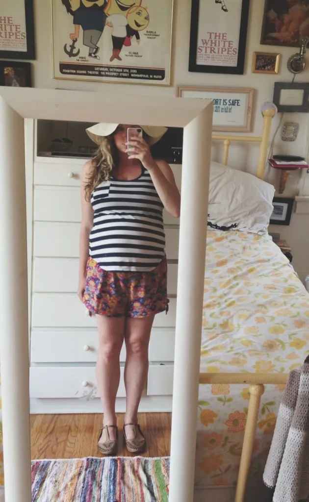 horizontal stripes maternity