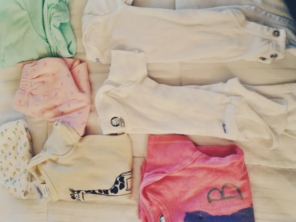 saved baby clothes