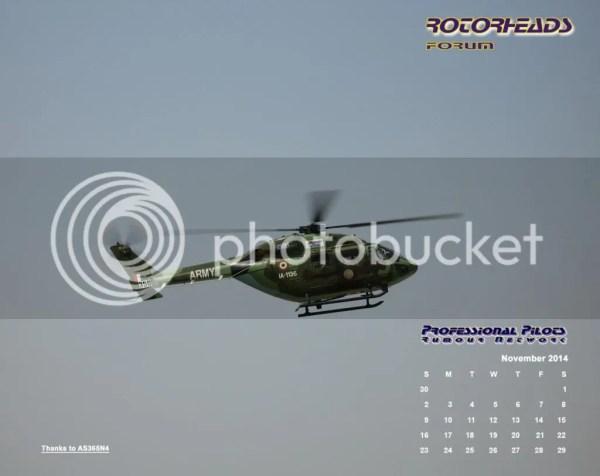 Pprune Forums November 2014 Rotorheads Desktop Calendar - Year of