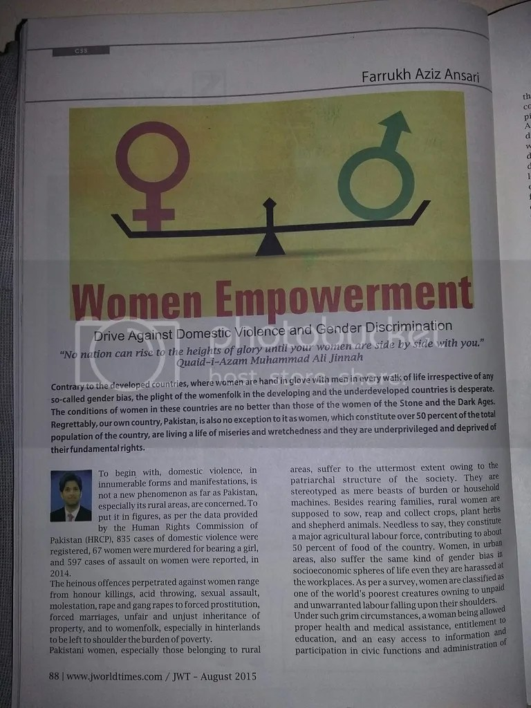 Essays On Women Empowerment My Article In World Times Magazine Women