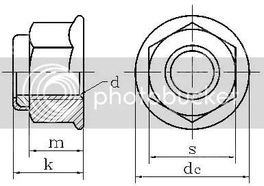 M3 M4 M5 M6 M8 M10 M12 Nylon Insert Hex Flange Lock Nuts