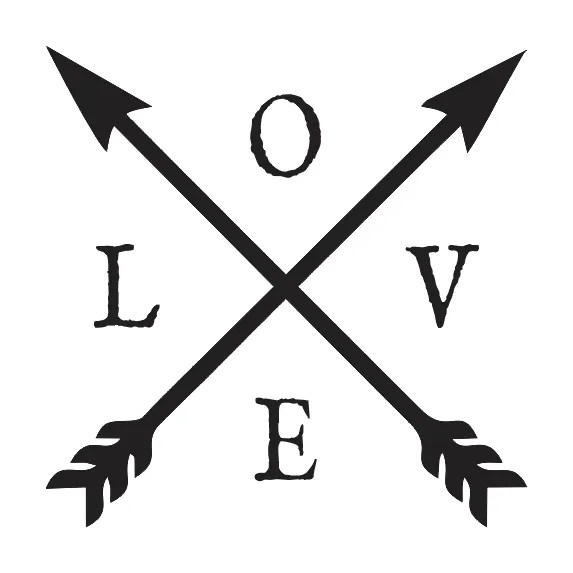Download STENCIL*LOVE w/crossed arrows*12x12 for Signs Wood Fabric ...