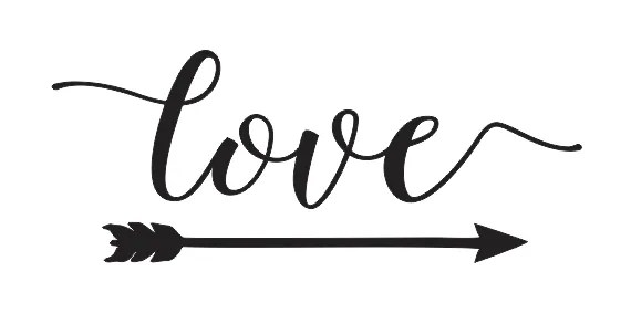 Download STENCIL**love w/arrow**6x12 for Signs Wood Fabric Canvas ...