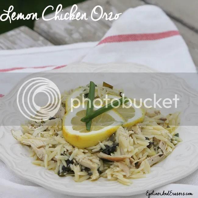 Lemon Chicken Orzo Easy Dinner Recipe photo ChickenOrzoLemon_zps60032df5.jpg