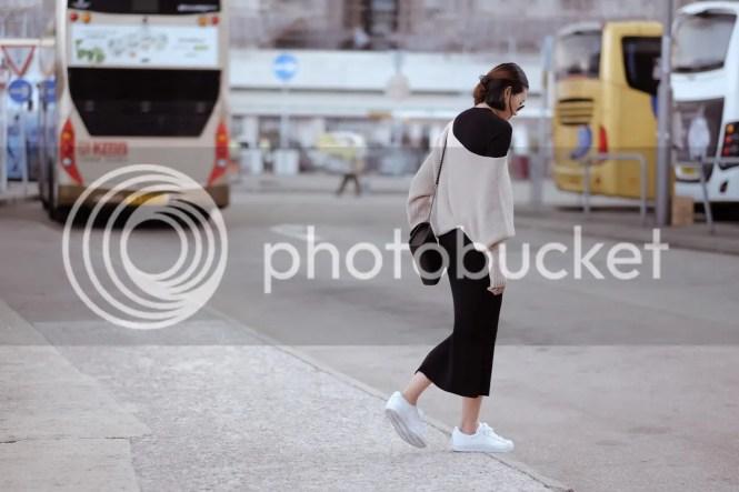 knitted off shoulder dress