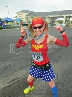 Me striking a pose with my finisher's medal after a fantastic race at the Geist Half Marathon - Fishers, Indiana