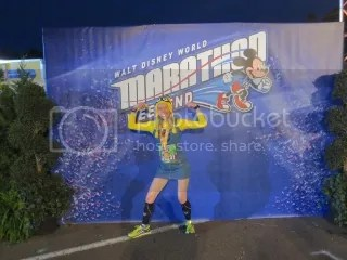 Me after finishing the Disney World Family Fun 5K