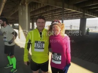 Sean Astin and me after finishing the Chocolate 5K - Louisville, Kentucky