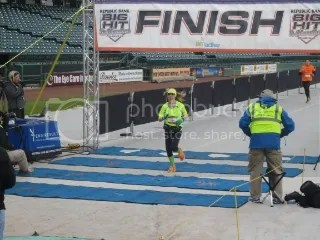 Me crossing the finish line of the Big Hit Half Marathon - Louisville, Kentucky