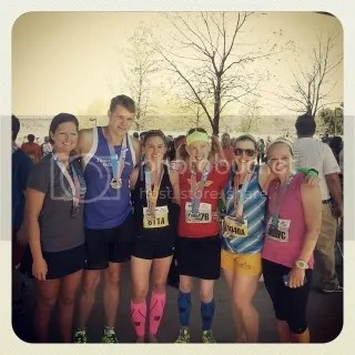 Silvia, Aaron, Andrea, Me, Kat, and Colleen after finishing the Kentucky Derby Festival Marathon and Mini Marathon