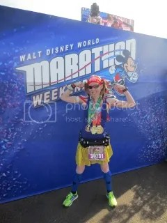 Me after finishing the Disney World Marathon, and in doing so, completing the Goofy Challenge and the Dopey Challenge