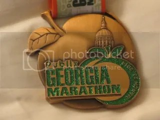 The finisher's medal of the Publix Georgia Marathon
