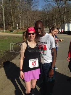 Me with Wesley Korir after the Taper For A Cause 5K - Louisville, Kentucky