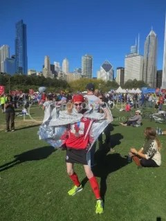 Me...the marathoner...after the Bank of America Chicago Marathon - Chicago, Illinois