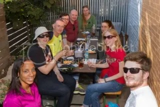 Me & My Gang (from left and looping around to right): Kelsie, Cathy, Harry, Howard, Michael, Judi, Natalie, Me, Justin (Not pictured: Greg (he's taking the photo) and Maureen (who hid from the camera))