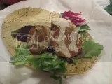Sandwich Petals Gluten Free Spinach Garlic Flatbread with SoL Cuisine Organic Falafel with Organic Tahini Sauce