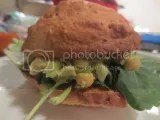 Chickpea and Avocado Salad Sandwich made with Celiac Specialties Gluten-Free Plain Croissant Style Rolls