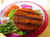 Health Is Wealth Sprouted Grains Chipotle Bean Sprout Burger (cooked)
