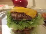 Hilary's Eat Well Adzuki Bean Burger (cooked)