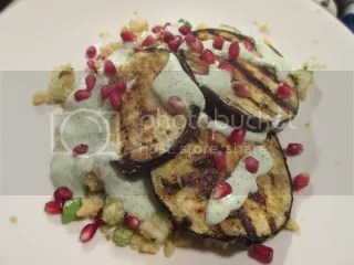 Grilled Eggplant with Gluten Free Couscous and Greek Yogurt Dressing