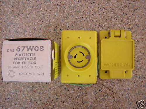 Twist Lock Electrical Receptacle 3 Wire 30 Amps 250v Nema L630r