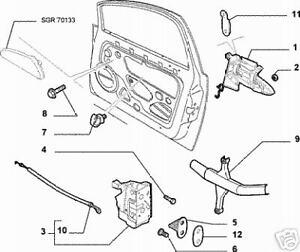 FIAT-GRANDE-PUNTO-3-DOOR-FRONT-DOOR-LOCK-MECHANISM-N-S