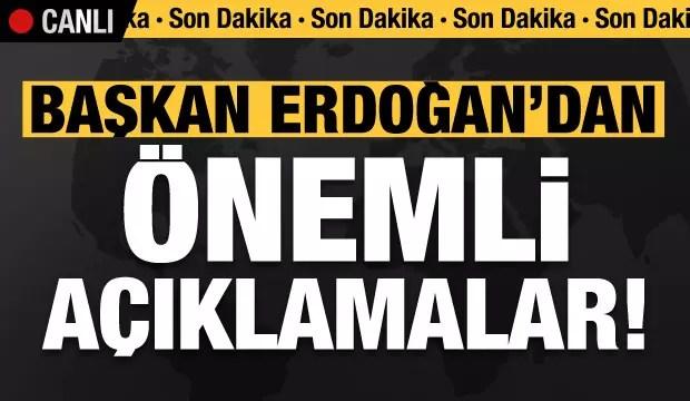 Son dakika: Erdoğan açılış merasiminde konuşuyor! 1